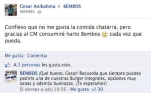 CM Bembos Venta 300x185, Bembos: un caso de éxito de marketing digital en el Perú