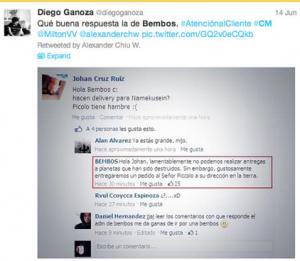 CM Bembos twitter 300x261, Bembos: un caso de éxito de marketing digital en el Perú