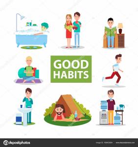 depositphotos 168453854 stock illustration good habits poster with characters 282x300, Filosofía para las ventas- los 10 pergaminos para éxito
